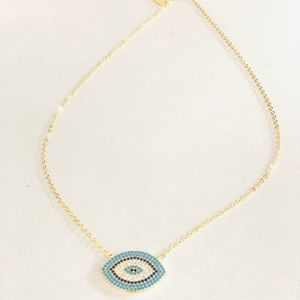 Jewelry - Evil eye sterling silver necklace
